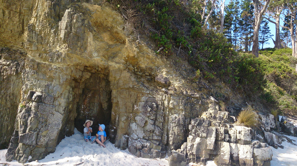 The cave at Roaring Beach
