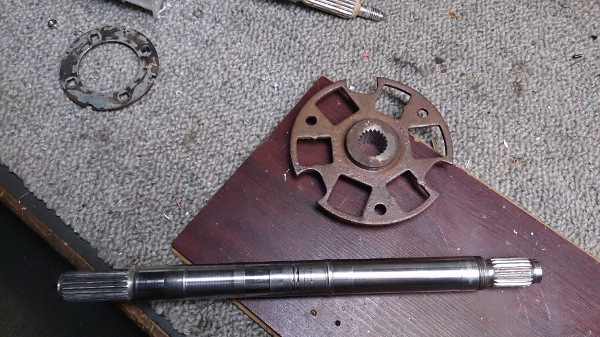 Shaft and clutch before
