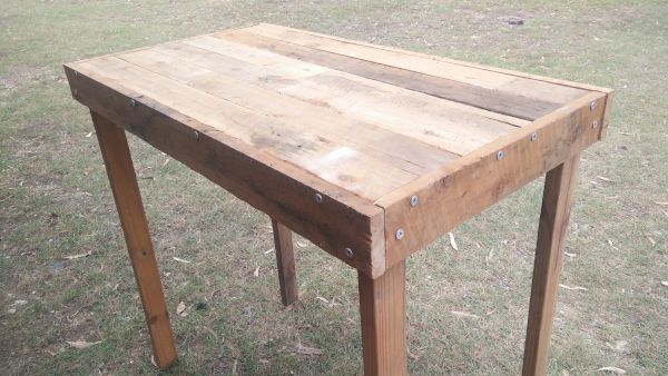 Stainless steel workbench bare