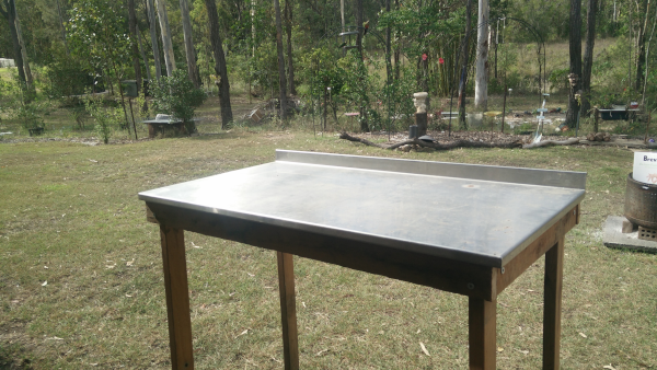 Stainless steel workbench stage 1
