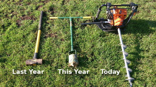Augers through the years